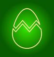 icon broken easter egg vector image vector image