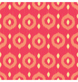 Ikat circles ethnic seamless pattern vector image