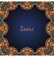 Kaleidoskopic frame Ornate frame with paisley vector image