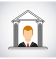 lawyer avatar in court vector image