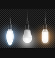 led bulbs set glowing lamps modern lightbulbs vector image vector image