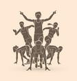 marathon runner start running group of people vector image vector image