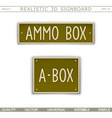 military signboard - ammo box vector image vector image