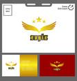 minimalist eagle logo golden concept vector image vector image