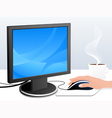 Monitor and mouse vector image vector image