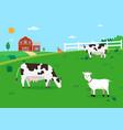 nature farm with animal farmland vector image vector image