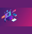 online education with laptop concept e-learning vector image vector image