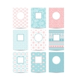 pink and blue romantic card templates vector image vector image