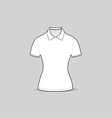 polo shirt outline vector image vector image