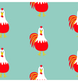 Rooster Cock bird Seamless Pattern 2017 Happy New vector image vector image