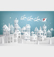 santa claus coming to city vector image vector image