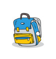 school bag on a white background vector image vector image