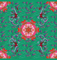 seamless floral pattern with flowers leaves vector image vector image