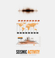 seismic activity infographics vector image vector image