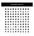 set building icon with glyph style design vector image