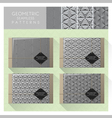 Set of geometric seamless pattern 3 vector image