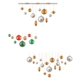 set of hunging ball decoration vector image