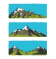 Set of mountains vector image vector image