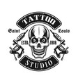 skull and tattoo electric machines emblem vector image vector image