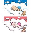 sleeping baby in diaper vector image
