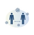 social distance icon vector image