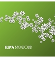 Spring background with chamomiles and shadow vector image vector image