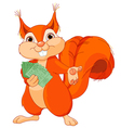 Squirrel with tickets vector image vector image