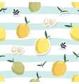 summer seamless pattern with lemons festive vector image vector image