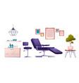 tattoo salon furniture and tools set vector image