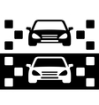 taxi simple icon vector image vector image