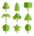 Tree icon collection vector image vector image