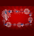 usa background design of america flag and vector image
