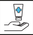 using disinfecting lotions for clean hands vector image