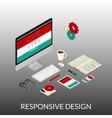Website development vector image vector image