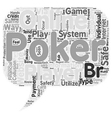 Why Online Poker Websites Are A Safe Way To Play vector image vector image