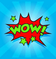 wow comic sound effects sound bubble speech with vector image vector image