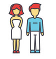 Young couple man and woman in love relationship vector image