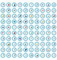 100 web development icons set isometric 3d style vector image vector image