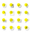 16 record icons vector image vector image