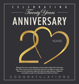 20 years Anniversary black background vector image vector image