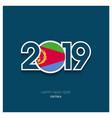 2019 eritrea typography happy new year background vector image vector image