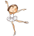 A simple sketch of a young ballerina vector image vector image