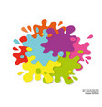 abstract art background made paint spots and vector image vector image