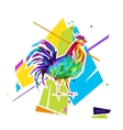 Abstract bright rooster Sign of 2017 vector image