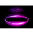 abstract circle on black purple vector image vector image