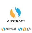 abstract fire and leaf corporate vector image vector image