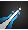 Argentina plane vector image vector image