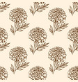 autumn vintage seamless pattern with flowers vector image vector image
