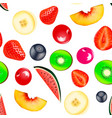 background seamless vegetarian with fruits and vector image vector image