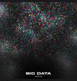 big data visualization circular cluster vector image vector image